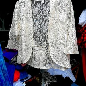 Off white lace cover up for fashion!
